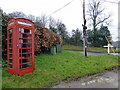 TQ6814 : Telephone Box at Ashburnham Pound by PAUL FARMER