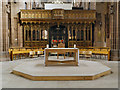 SJ8398 : Screen (Pulpitum), Manchester Cathedral by David Dixon