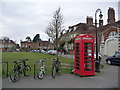 SU1429 : Salisbury: telephone box on the cathedral green by Chris Downer