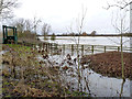 TL1396 : Flooded water meadows (East Holmes) at Alwalton by Alan Murray-Rust