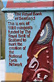 SK2999 : National Cycle Network milepost (detail) by Dave Pickersgill