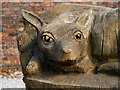 SJ7387 : Carved Fox, Dunham Massey by David Dixon
