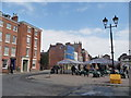 SO5174 : Part of the Local to Ludlow market in March 2012 by Jeremy Bolwell