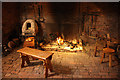 SK8190 : Medieval kitchen fireplace by Richard Croft