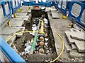SJ9494 : Underground pipes and cables by Gerald England