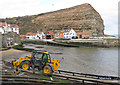 NZ7818 : Staithes harbour by Pauline Eccles