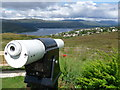 NN0972 : Fort William: telescope at Blarmachfoldach viewpoint by Chris Downer