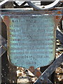 NM8529 : Oban: plaque on Pulpit Hill bench by Chris Downer