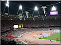 TQ3784 : Stratford: Paralympic Games under floodlight by Chris Downer