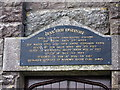 SN8968 : Plaque on the valve tower, Craig Goch reservoir by Rudi Winter