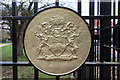 TQ3092 : Coat of Arms, Broomfield Park, London  N13 by Christine Matthews