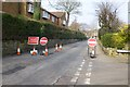 SK5236 : Dovecote Lane is closed by David Lally
