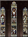 TL5457 : St Nicholas, Great Wilbraham - Stained glass window by John Salmon