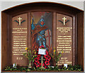 TL5457 : St Nicholas, Great Wilbraham - War Memorial WWI &amp; WWII by John Salmon