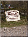 TM5194 : Camps Heath Barn sign by Adrian Cable