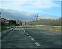 SK3970 : A617 approaching Chesterfield by Trevor Rickard