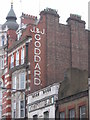 TQ2981 : Lettering on building, Tottenham Court Road, WC1 by Christopher Hilton