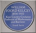 Photo of William Foord-Kelcey blue plaque