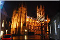 TR1557 : Canterbury Cathedral at night by N Chadwick