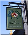SO9527 : The Royal Oak (3) - sign, Church Road, Bishop's Cleeve, Glos by P L Chadwick