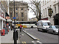 TQ3081 : Cycle contraflow on Bury Place by Stephen Craven