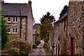SK2553 : Carsington, lane with houses by Peter Barr