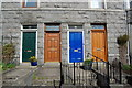 NJ9208 : Doors, Leslie Road, Aberdeen by Bill Harrison
