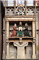 SO5174 : St Laurence's church, Ludlow - monument to Edward Waties & wife by Mike Searle