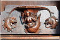 SO5174 : St Laurence's church, Ludlow - misericord (1) by Mike Searle