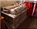 SO7993 : All Saints church, Claverley - tomb-chest of Sir Robert Broke &amp; wives by Mike Searle
