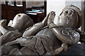 SJ7907 : St Bartholomew's church, Tong - table-tomb of Sir Richard Vernon &amp; his wife Benedicta (detail 2) by Mike Searle