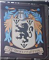 TQ2477 : Wilton Arms Pub sign, Fulham  by David Anstiss