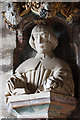 SJ7907 : St Bartholomew's church, Tong - memorial bust of Sir Arthur Vernon (detail) by Mike Searle