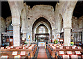 SJ7907 : St Bartholomew's church, Tong - the nave by Mike Searle