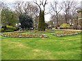 TQ2782 : Flowerbeds - St John's Wood Church Grounds by Paul Gillett