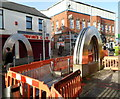 ST0790 : Two arched sculptures, Taff Street, Pontypridd by John Grayson