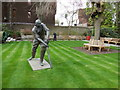 TQ2682 : WG Grace Sculpture, Lords by Paul Gillett