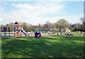 TQ1584 : Greenford:  Children's playing area, Horsenden Lane by Dr Neil Clifton