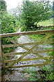 SK2061 : Gate and stream on Gratton Dale bridleway by Graham Horn
