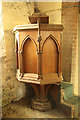 TF3394 : St.Bartholomew's pulpit by Richard Croft