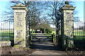 TQ0486 : Gates into Buckinghamshire golf course by Graham Horn