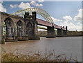 SJ5083 : Runcorn Bridges by David Dixon