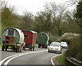 SP1465 : Travellers on the road near Henley-in-Arden by Robin Stott