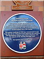 SP0786 : A blue plaque at Moor Street Station by Ian S
