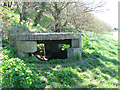 TF9643 : WW1 pillbox beside the path to Stiffkey Greens by Evelyn Simak
