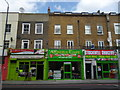 TQ3076 : Shops, Stockwell Road SW9 by R Sones
