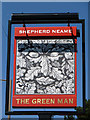 TQ6291 : The Green Man, Herongate - inn sign by Robin Webster
