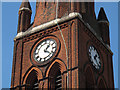 TQ1869 : St Luke's church, Kingston-upon-Thames: clock faces by Stephen Craven