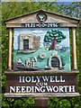 TL3372 : Needingworth village sign by Ian Yarham