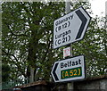 J1576 : 'C' Road sign, Crumlin by Rossographer